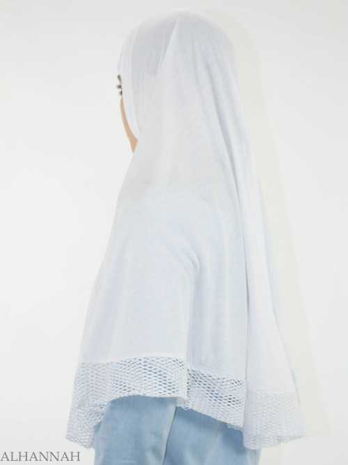 White Crochet One-Piece Al-Amira Hijab HI2136 (1)