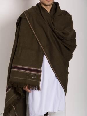 Chal de lana confeccionado con estampado de flechas étnicas ME748 (3)