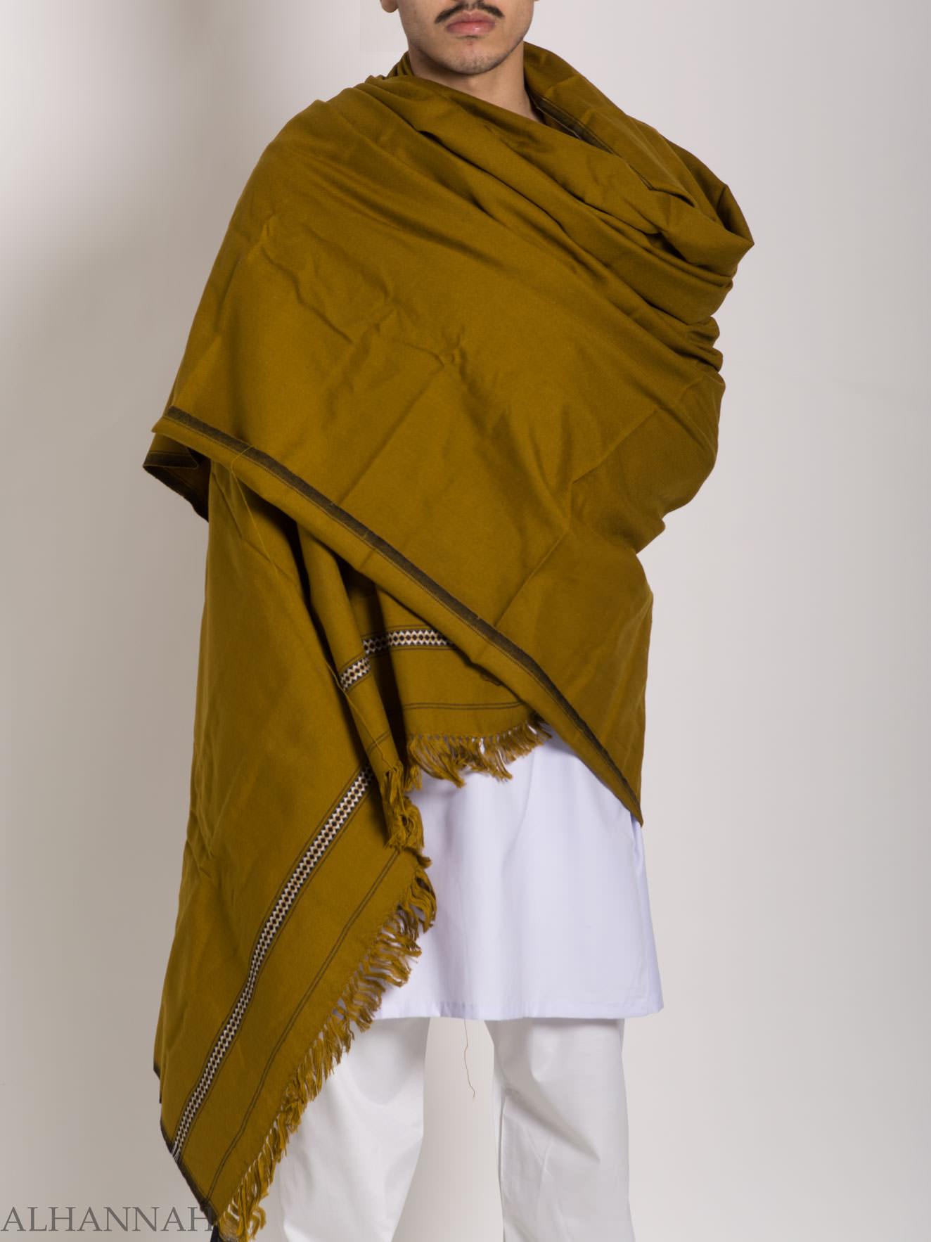 Tasseled Light Wool Pakistani Shawl With Ethnic Triangle