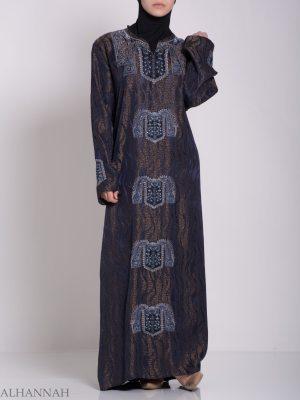 Bordado Brillante arremolinado jordano Abaya ab705 (5)
