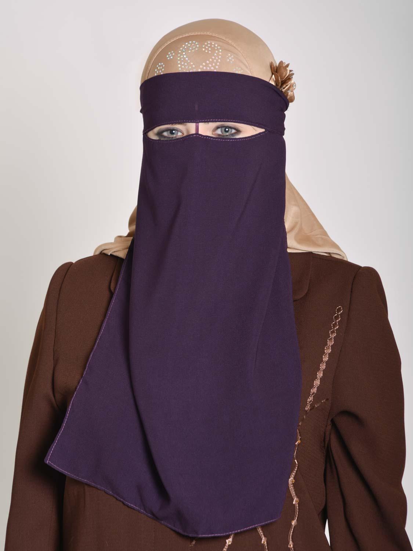 Saudi Style Solid Color One Layer Long Niqab Ni158