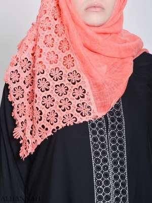 Hijab de ganchillo floral