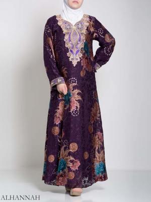 Paisley Floral Abstract Abaya ab709
