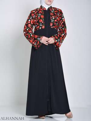 Rose Abaya bordado (2)