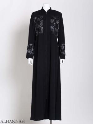 Womens Abaya netted Rose Net