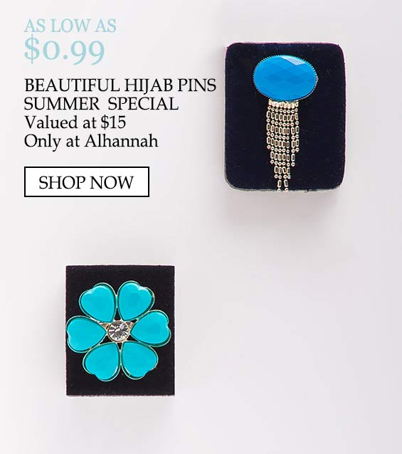Beautiful Hijab Pins Summer Special 50 percent value - as low as $.99, beautiful hijab pins, summer special, valued at $15 only at alhannah shop now