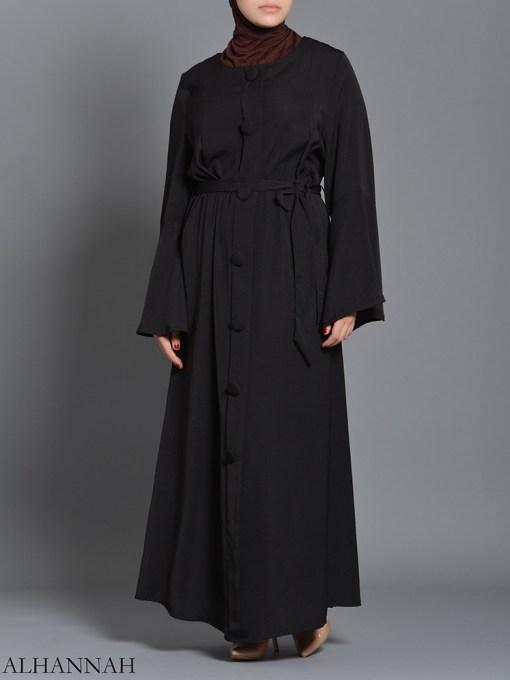 Black pull over Rayon Arabian Abaya ab727 (4)