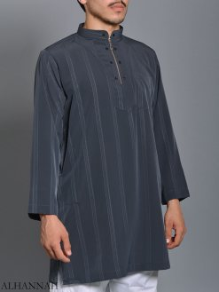 Striped Ikaf Kurta shirt me786 (2)