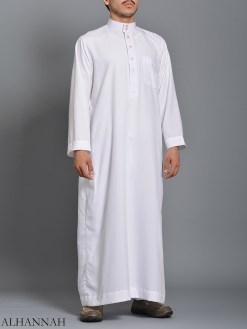 Hvit Daffah Saudi Thobe meg785 (1)