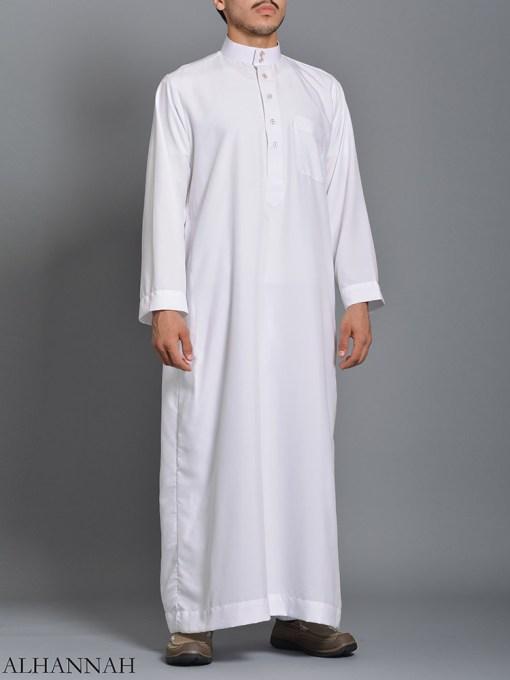 White Daffah Saudi Thobe me785 (1)
