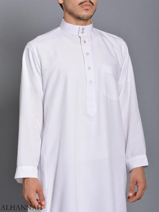 White Daffah Saudi Thobe me785 (2)