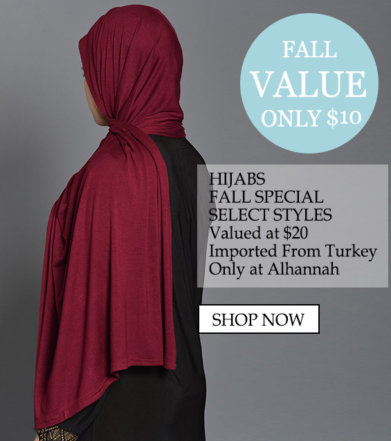 "Womens Muslim Islamic Clothing Beautiful Hijabs Alamira Square Shayla ""only $10 Hijabs Special Select Styles Valued at $20 Imported only at Alhannah"