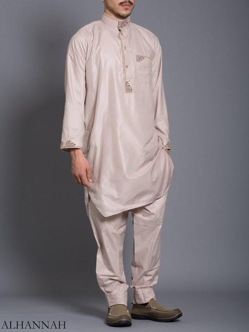 Zari Embroidered Pocketed Salwar Kameez me787 (5)