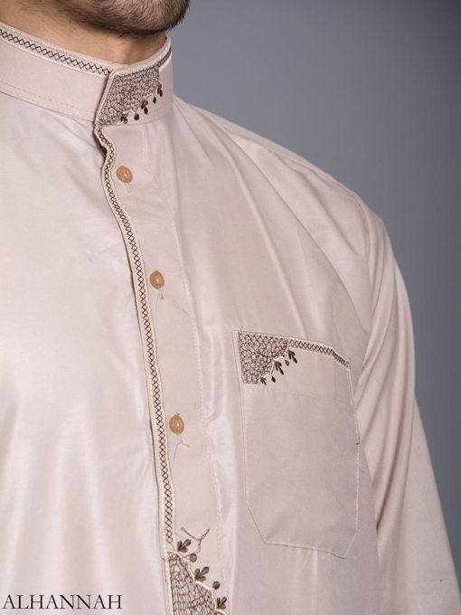 Zari Embroidered Pocketed Salwar Kameez me787 (6)