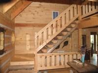 rustic indoor stair railings
