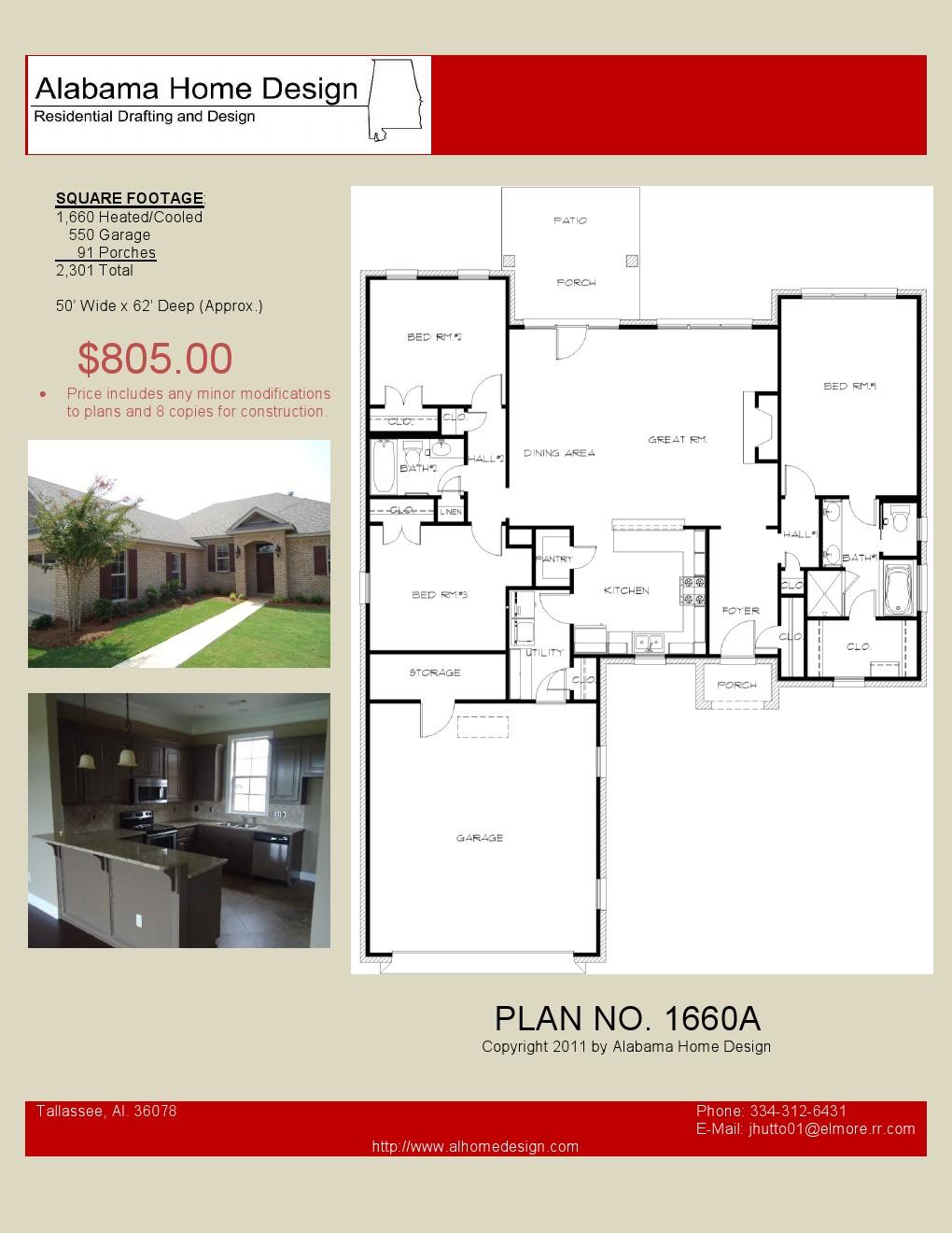 House Plans Under 2000 sq ftAlabama Home Design