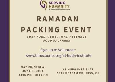 Ramadan Packing Event 2018