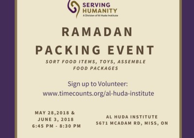 Ramadan Packing Event 2018