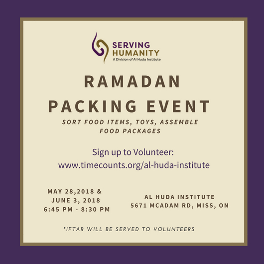 Ramadan Packing Event – Volunteer with Serving Humanity!