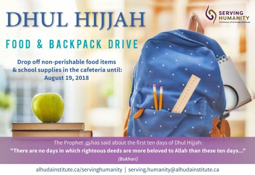 Dhul Hijjah Food & Backpack Drive