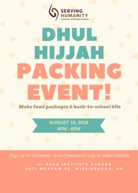 Dhul Hijjah Packing Event