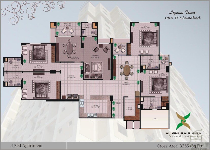 4 BED 3285 SFT