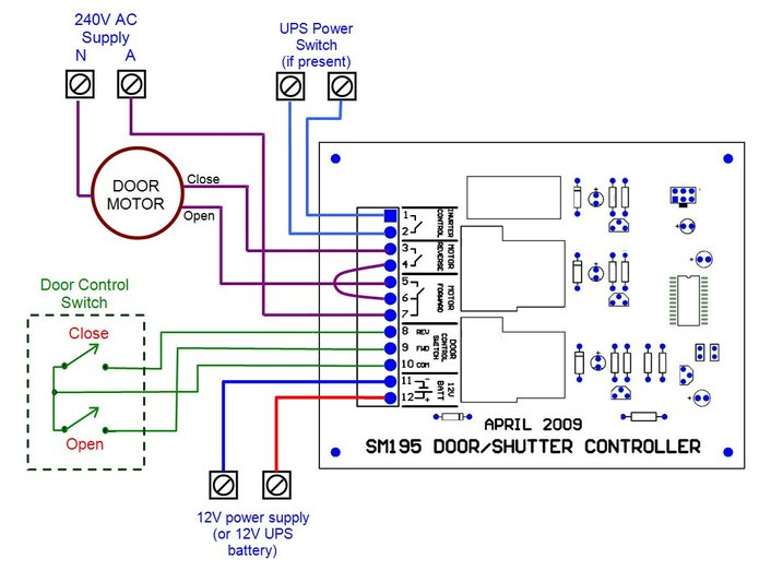 roller garage door wiring diagram jack plate sm195 shutter controller