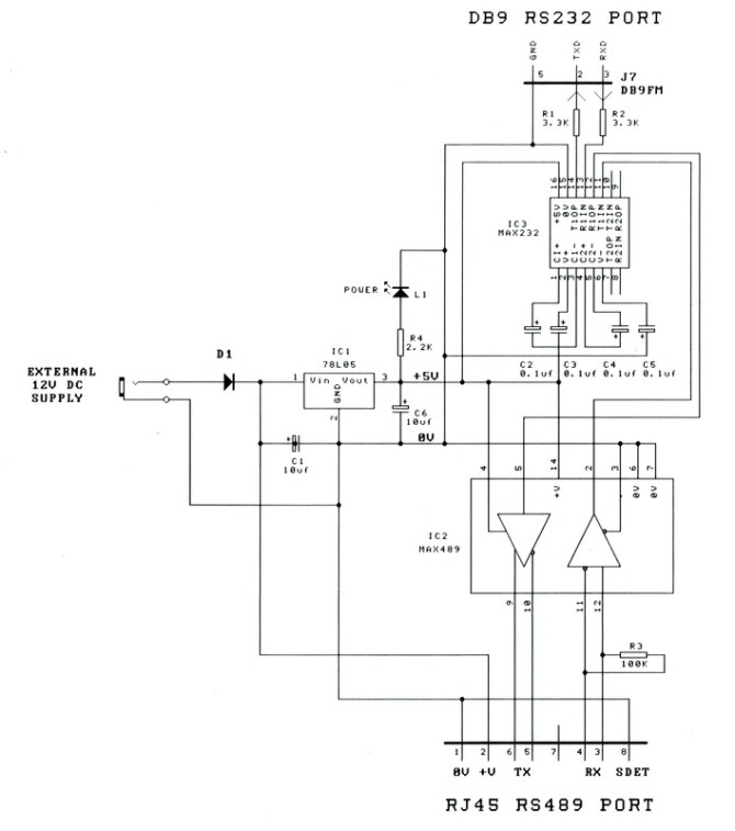 sm231 an rs232 to rs422/rs485 adapter