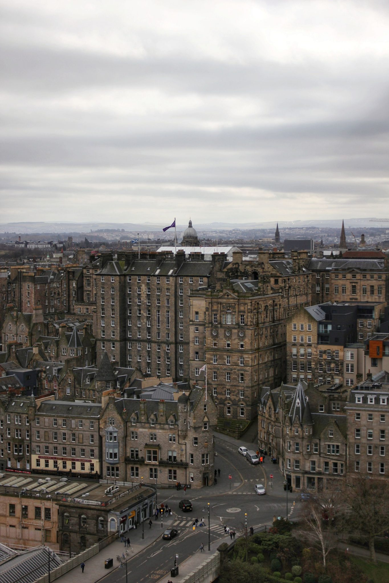 waverley bridge from scott monument