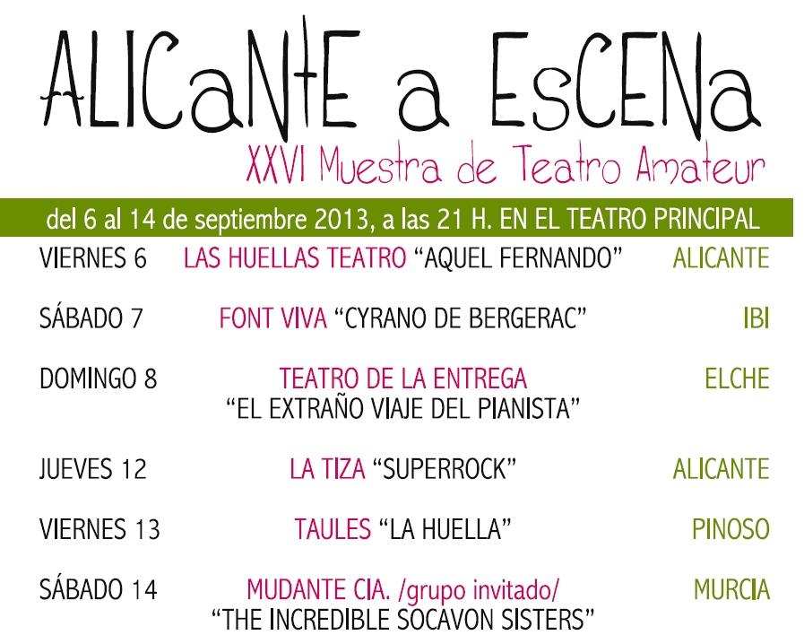 Alicante Escena Programa