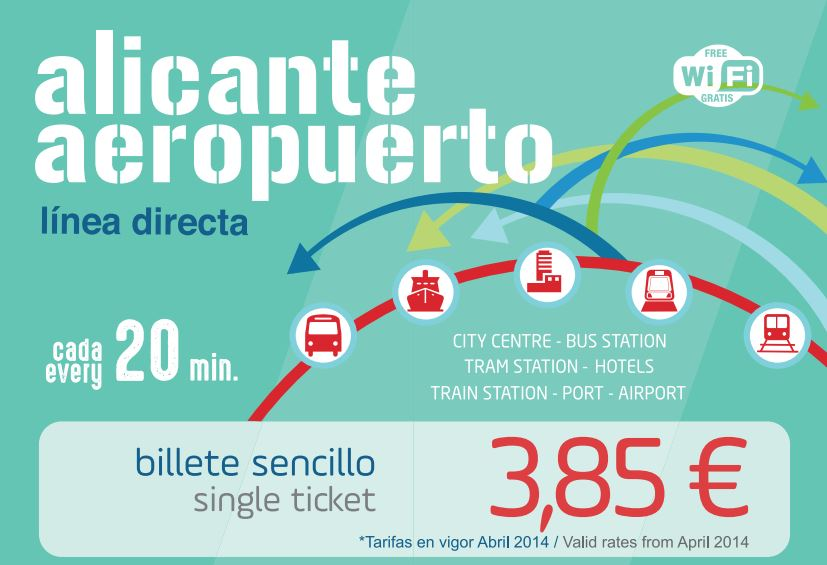 alicante tram to airport