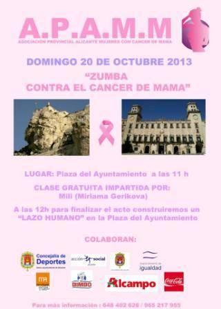 Zumba contra el cáncer de mama 2013