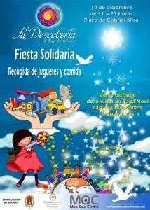 Fiesta solidaria en la plaza Gabriel Miró @ Plaza Gabriel Miró