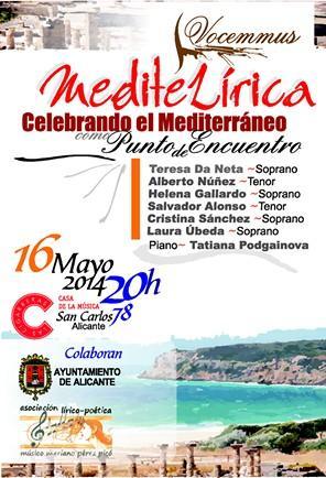 Gala MediteLírica en el C.C. Cigarreras de Alicante