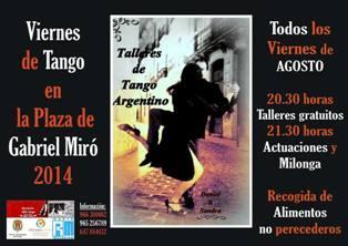 Viernes de Tango en plaza Gabriel Miró