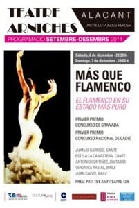 Más que Flamenco en el Teatro Arniches @ Teatro Arniches