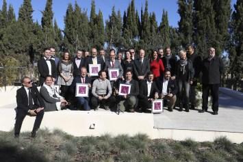 Foto de premiados, académicos y embajadora gastronomía