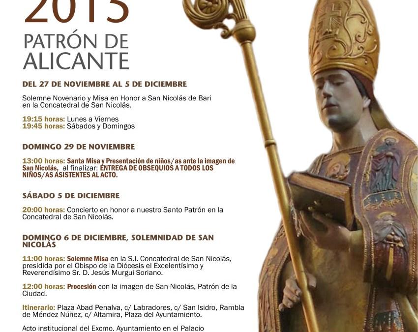 Fiestas en Honor a San Nicolás de Bari, Patrón de Alicante. Del 27 de Noviembre al 5 de Diciembre