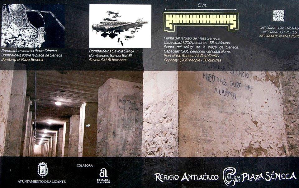 Visita el Refugio Antiaéreo en Plaza Séneca ( antigua Estación de Autobuses). Consulta los horarios