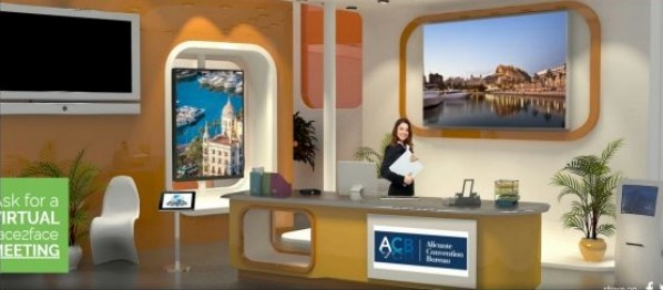Imagen del stand virtual del Alicante Convention Bureau en la feria Meet in Spain 2015