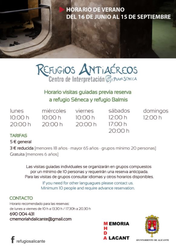 Visit the Air raid shelter of the Spanish Civil War of Spanish Civil Warm in Seneca Square: Program of guided visits @ Refugio Antiaéreo Seneca | Alacant | Comunidad Valenciana | España