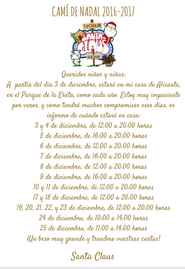 horario-casa-santa-claus-2016-alicante