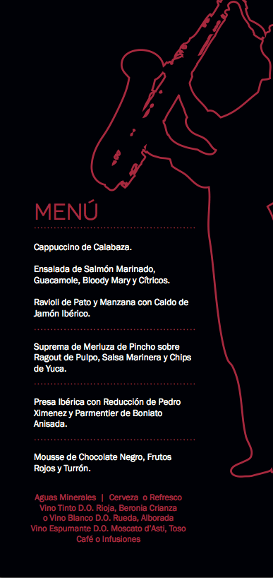 abba centrum jazz club san valentin menu