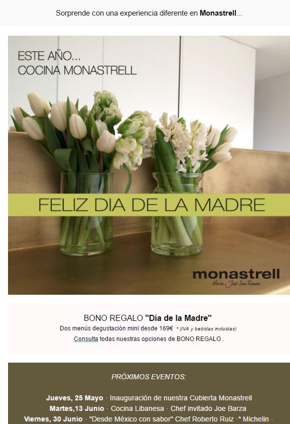 Restaurante Monastrell. Día de la Madre @ Restaurante Monastrell | Alicante | Comunidad Valenciana | España