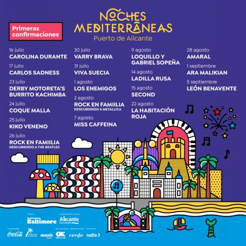 NOCHES MEDITERRÁNEAS. CONCIERTOS VERANO 2020 @ Muelle Levante, 12, | Alicante (Alacant) | Comunidad Valenciana | España