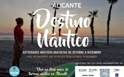 """Mari Carmen Sánchez lanza la campaña de otoño """"Alicante Destino Náutico"""" con deporte y actividades gratuitas hasta final de año"""
