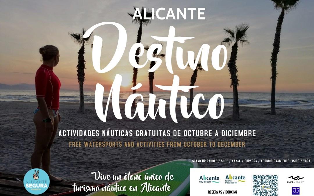 """Mari Carmen Sánchez llança la campanya de tardor """"Alicante Destino Náutico"""" amb esport i activitats gratuïtes fins a finals d'any"""