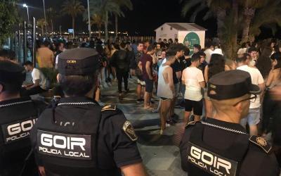 Alicante y Campello cierran sus playas siguiendo instrucciones de la Generalitat Valenciana la noche de San Juan