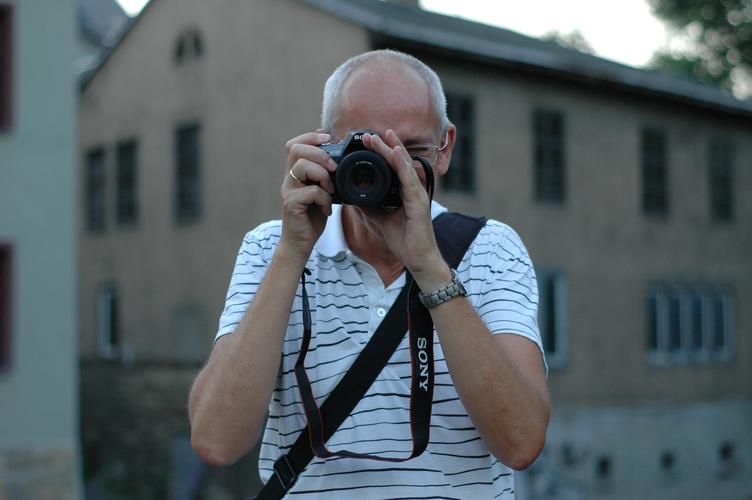 Fotografiert werden