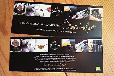 Januar 2015: Fotos für Drucksachen und Messestand der Ölmühle PURPUR 1899